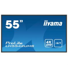 "IIYAMA LFD 54,6"" dalle IPS LED 24/7 3840x2160 VGA DVI HDMIx2 USB Haut-parleurs 500cd/m² Paysage/port 9ms MediaPlayer LH5542UHS-B1"