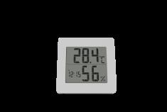 Station thermomètre-hygromètre Réveil - Calendrier Ecran rétroéclairé blanc