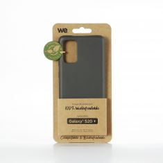 WE Coque Bio SAMSUNG GALAXY S20+ - Eco-Friendly Biodégradable et Compostable - Housse Etui Antichoc, Compatible avec L'induction, Ultra Protection Bumper, Anti Rayure - Noir