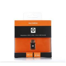 Adp USB-C male/micro USB femelle noir - USB2.0