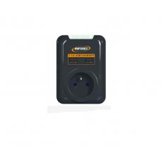 Parasurtenseur INFOSEC S1 USB NEO 1 Prise FR + 2 ports USB Garantie 2ans protection parafoudre / 61297