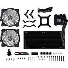 Ventilateur CoolerMaster LiquidLite ML 240L RGB Watercooling LED Gamer - 2 Ventilateur de 120 mm MLW-D24M-A20PC-R1