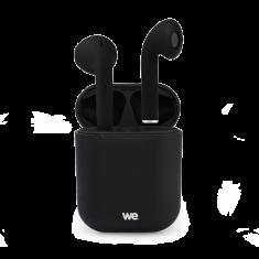 Ecouteurs WE Bluetooth 5.0 - Léger Sans Fil - Microphone intégré Boitier de recharge de 300 mAh Contrôle tactile - Noir