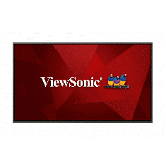 Ecran 86'' ViewSonic LFD 4K LED UHD 16:9 16h/7j 1.6Go 450nit 8ms 1200:1 178/178 VESA 400x200 2xHDMI VGA DP 3xUSB Slot OPS Hp:2x12W CDE8620