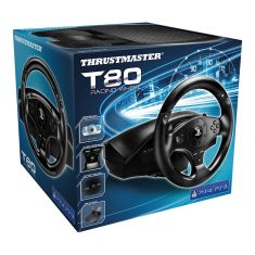 THRUSTMASTER Volant T80 RW  PS4 officially licensed emea + pedalier large repose pieds.2 palettes boite sequentielle 11 boutons actions