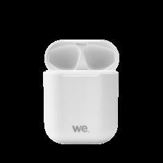 Ecouteurs WE Bluetooth 5.0 - Léger Sans Fil - Microphone intégré Boitier de recharge de 300 mAh Contrôle tactile - Blanc