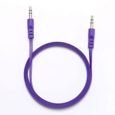 Câble Jack/Jack M/M plat 1.50m - violet 3.5mm