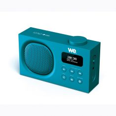 Radio portable DAB+/FM rechargeable RMS 3W - Double alarme - Luminosité réglable Bleue