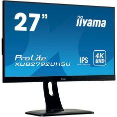 "Moniteur IIYAMA 27"" dalle IPS ULTRA MINCE 3840x2160 300 cd/m2 300 cd/m2 DisplayPort USB-HUB 13cm pied régl en h Pivot/XUB2792QSU-B1"