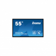 "IIYAMA LFD 55"" Tactile PCAP 40pts 16:9 24/7 IPS 4K UHD DVI HDMI DP 450cd/m² 6ms Paysage/Port Hp:2x8W Ecran bord a bord Noir T5561UHSC-B1"
