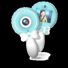 WE Appareil Photo numérique Enfant, caméra avant et arrière, écran couleur, 1.3MPx, rechargeable, micro SD 8GB