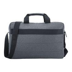 """Sacoche pc 15.6"""" HP Noir et gris Sacoche de transport av bandoulière resistantTopload K0B38AA Petit prix avec plusieurs poches"""