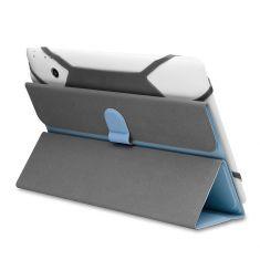 H-1050 TPU Noir Housse universelle pour tablettes 9/10'' Toucher doux Attaches en silicone ajustables Languette magnétique