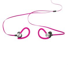 Ecouteurs Sport Waterproof Rose Intra-auriculaire - Tour d'oreille Câble plat