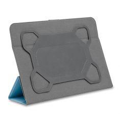 H-1050TPUFushia Housse universelle pour tablettes 9/10'' Toucher doux Attaches en silicone ajustables Languette magnétique