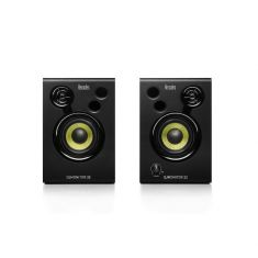 Hercules DJMonitor 32 enceintes de monitoring actives DJi 2x15 Watts RMS 60Watts Peak Power caisson en bois MDF 6mm