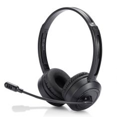 Casque micro WE Bluetooth connexion BT ou câble jack 3.5mm micro pivotant noir