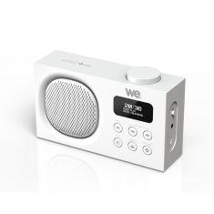 Radio portable DAB+/FM rechargeable RMS 3W - Double alarme - Luminosité réglable Blanche