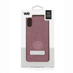 Coque en tissu iPhone X - XS Rose