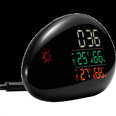 station météo avec sonde extérieur affichage température/humidité réveil