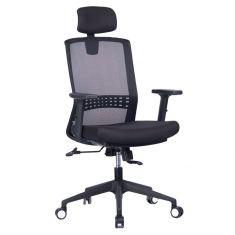 Chaise de bureau pivotante WE dossier en maille respirable accoudoirs, support lombaire ajust hauteur reglable, 5 roues