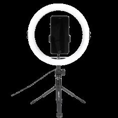 WE Anneau Lumineux à LED avec trépied et support téléphone, télécommande, projecteur de cercle pour photographies, nomade