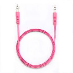 Câble Jack/Jack M/M plat 1.50m - fushia 3.5mm