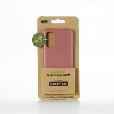 WE Coque Bio SAMSUNG GALAXY S20 - Eco-Friendly Biodégradable et Compostable - Housse Etui Antichoc, Compatible avec L'induction, Ultra Protection Bumper, Anti Rayure - Fuschia