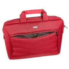 WE Sacoche pour Ordinateur Portable 14 Pouces Sac à Bandoulière Unisexe Homme Femme Confortable Mallette Multi-Compartiment avec Poche Extérieur – Rouge