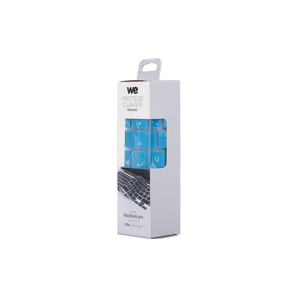 WE CLA IAIRPRORB Clavier de protection pour MacBook en Silicone Bleu